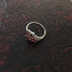 New* sterling silver pink tourmaline ring size 6